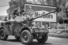 1991, San Salvador. Military parade