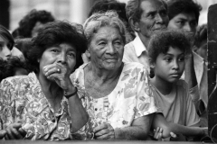 San Salvador, El Salvador, 1992. Political, cultural meeting in center town.